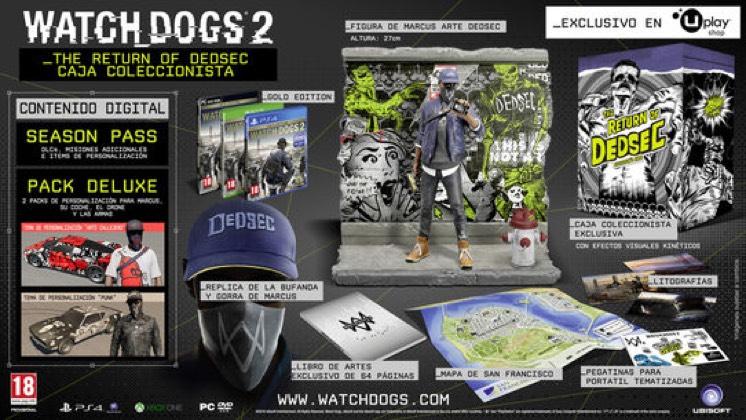 """Watch Dogs 2 - Edición coleccionista """"The return of Dedsec"""" ps4/Xbox/Pc"""
