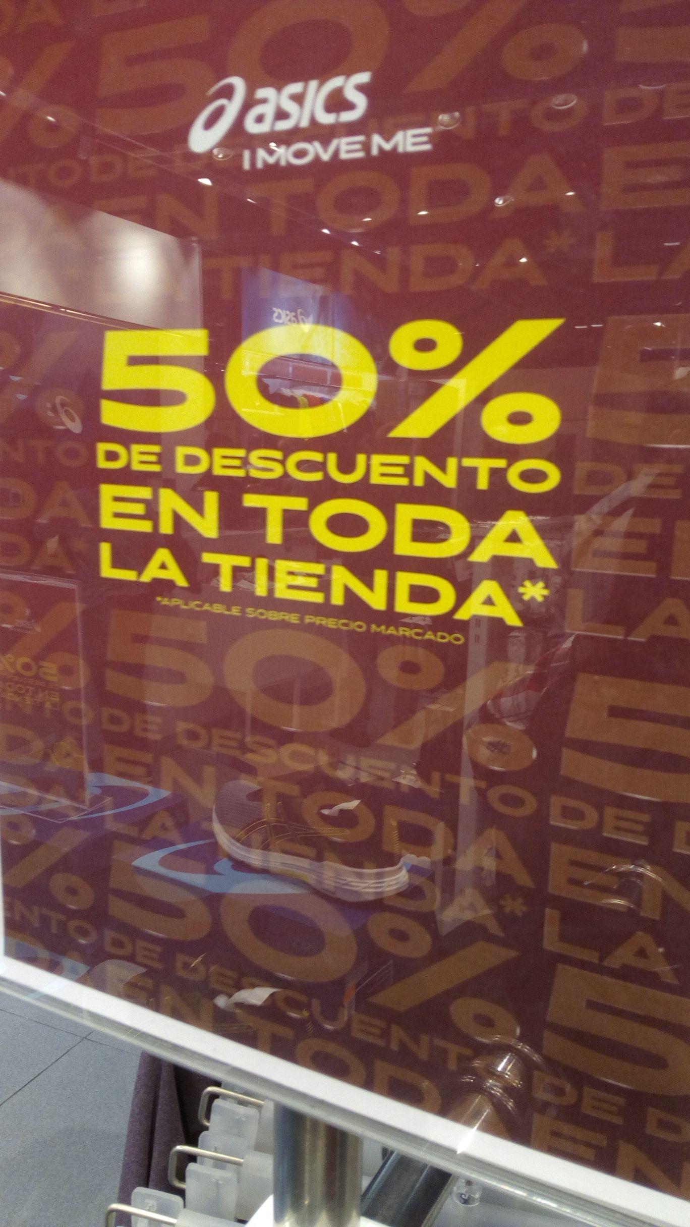 Asics 50% en Outlet San Sebastián de los Reyes