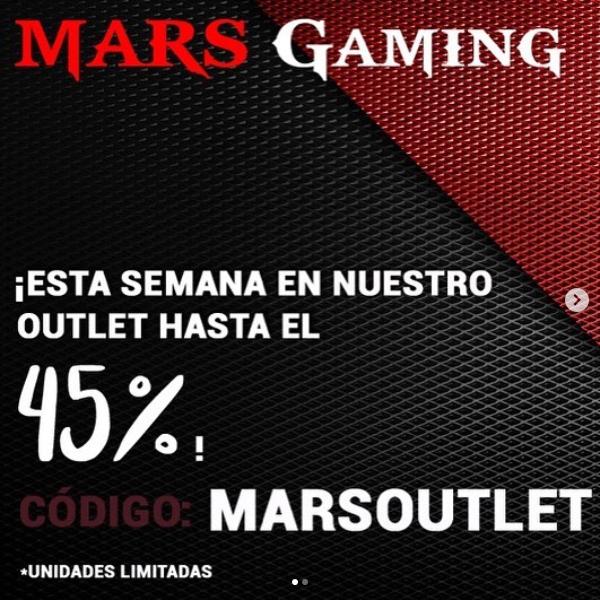 hasta 45% de descuento en outlet gaming
