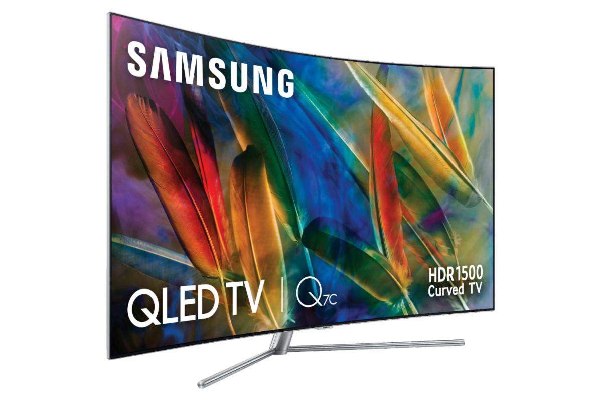 """TV QLED 65"""" - Samsung QE65Q7CAMTXXC, Ultra HD 4K, HDR 1500, Curvo, Reacondicionado, Embalaje dañado"""
