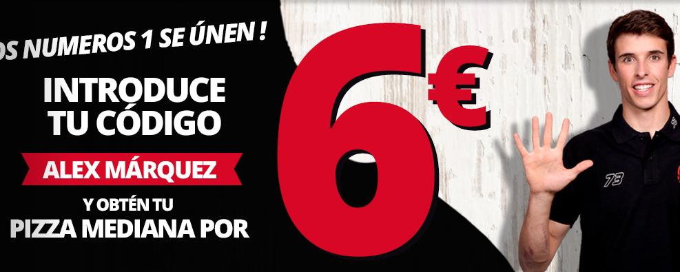 Medianas a domicilio por 6 euros en Pizza Hut
