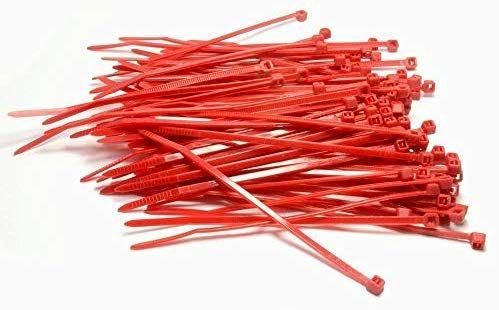 100 bridas sujeta cables rojas