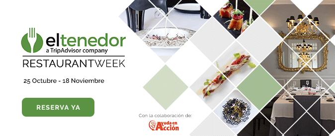 Restaurant Week El Tenedor Restaurantes alta cocina a precio reducido