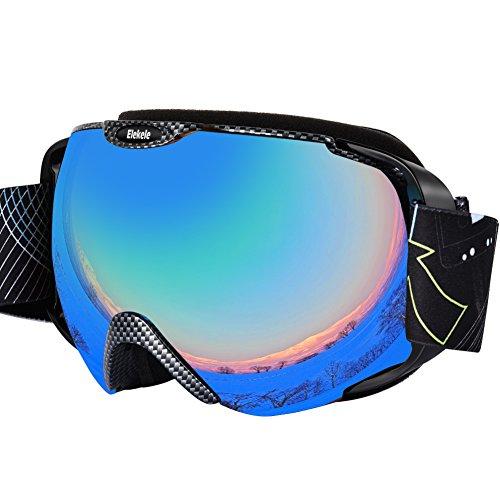 Gafas de esquí con espejo recubrimiento anti-niebla UV400