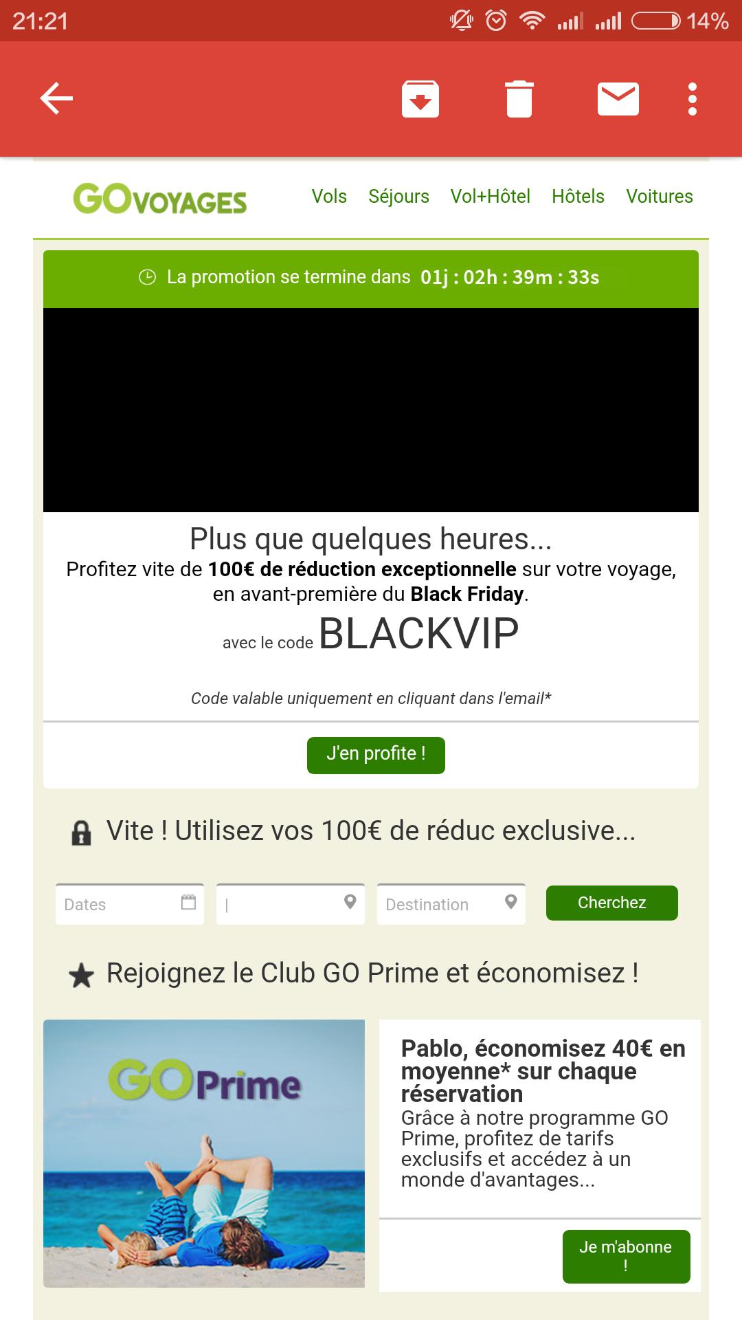 Código descuento 100€ vuelo+hotel
