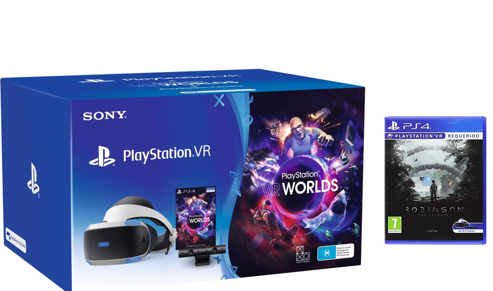 Sony PlayStation VR + VR Worlds + Cámara + Robinson: The Journey VR