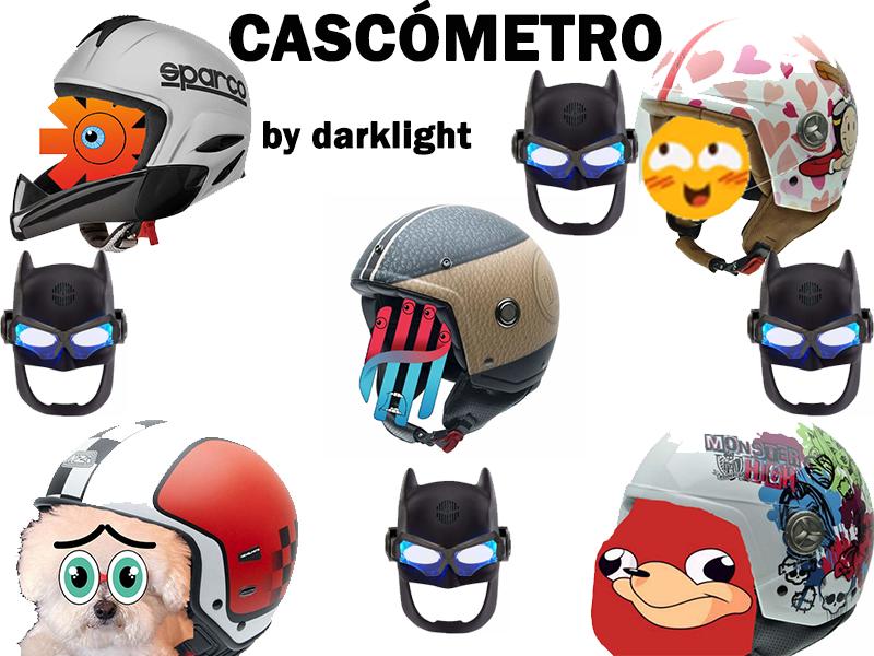 CASCÓMETRO (Cascos para moto y otra cosa de La Liga de la Justicia)