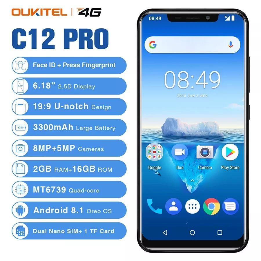 "Oukitel C12 Pro 2/16 , 6,18"" envío desde China"