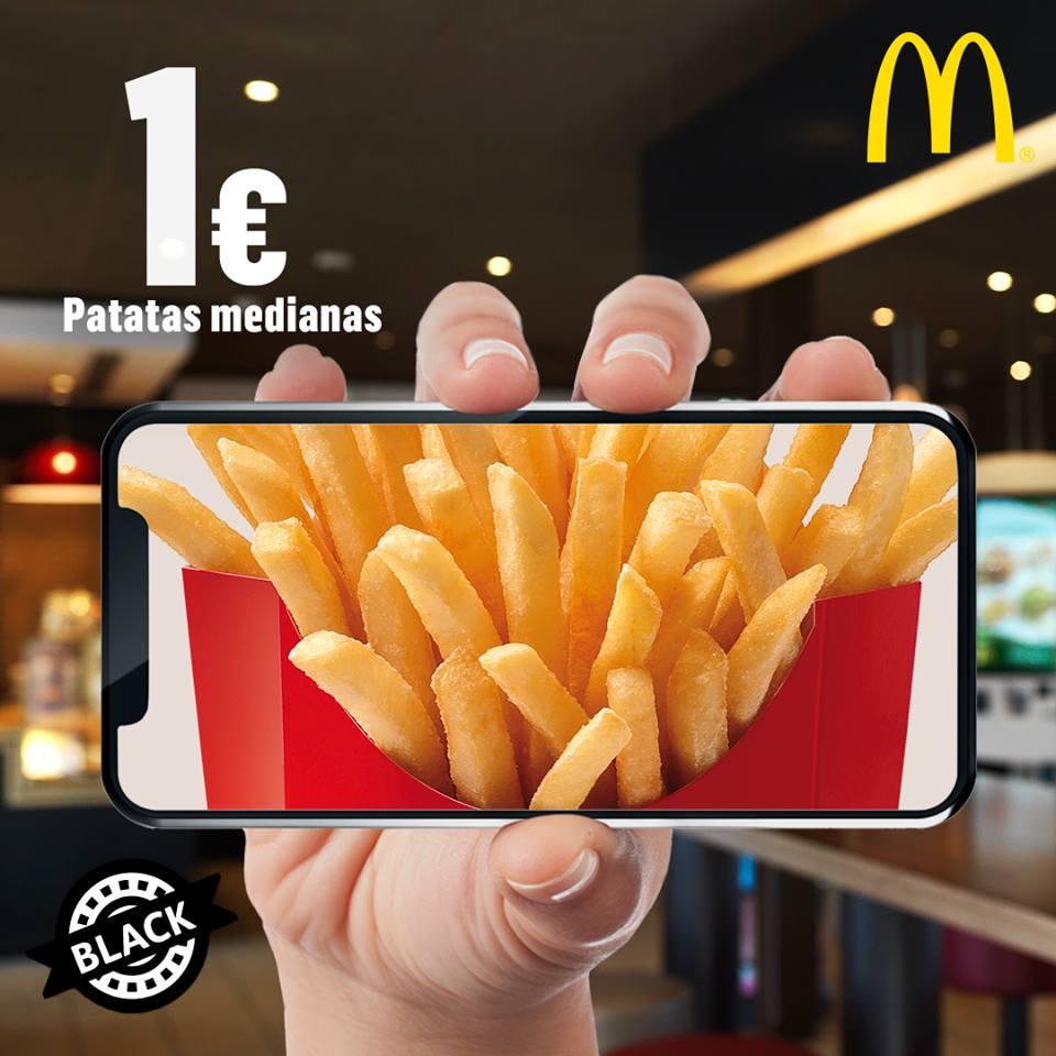Patatas medianas McDonald's por 1€