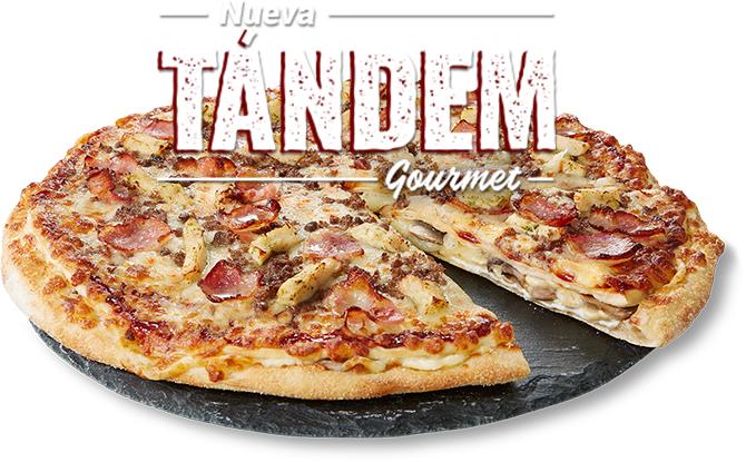Nueva Pizza Tándem Gourmet por 7€ o gratis