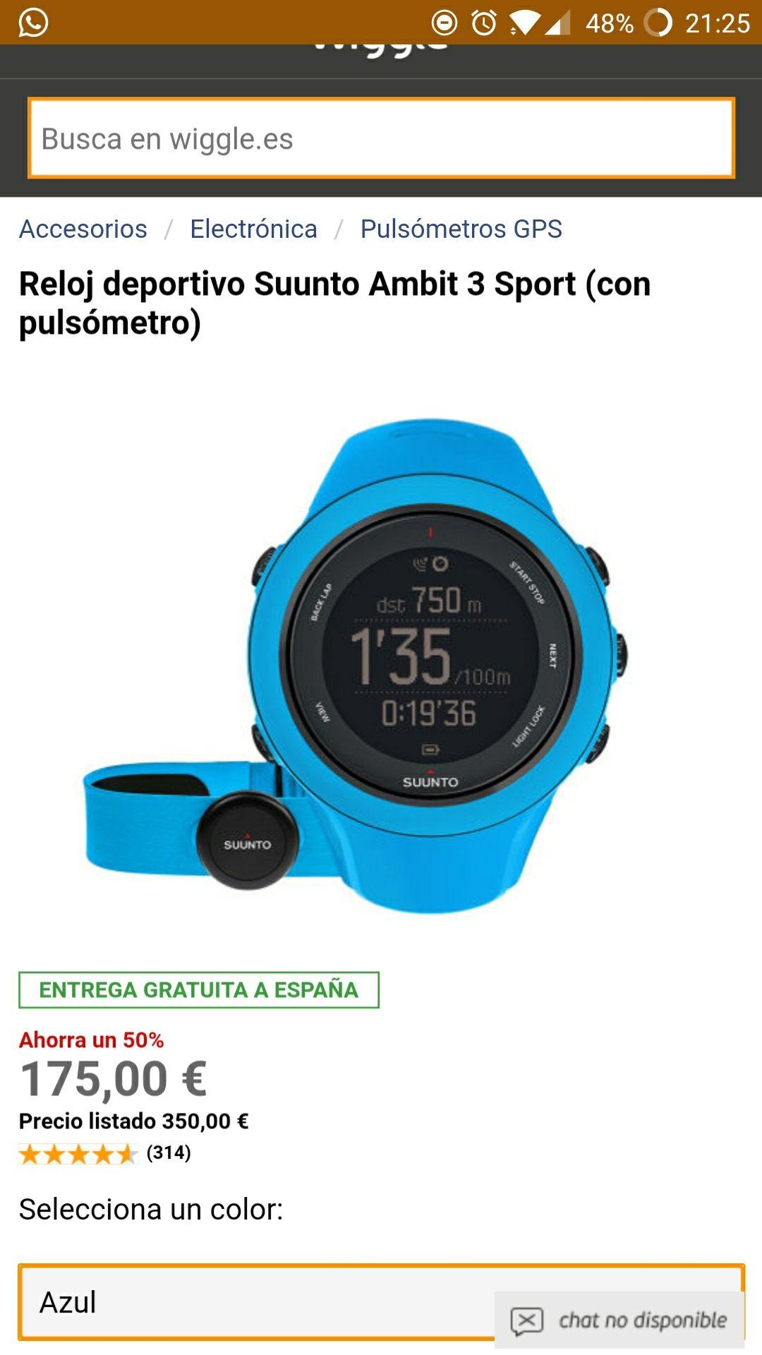 Reloj deportivo Suunto Ambit 3 Sport (con pulsómetro)