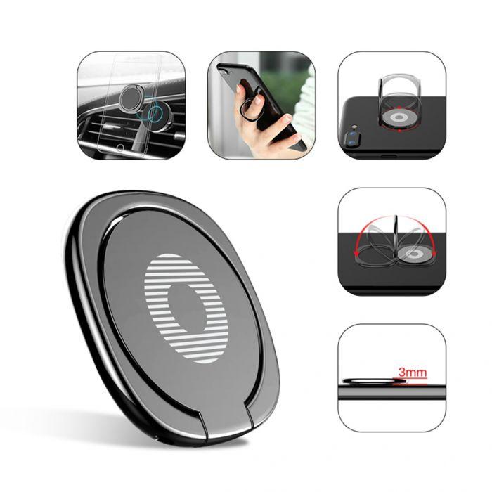Soporte/Anillo magnético ultrafino para móvil