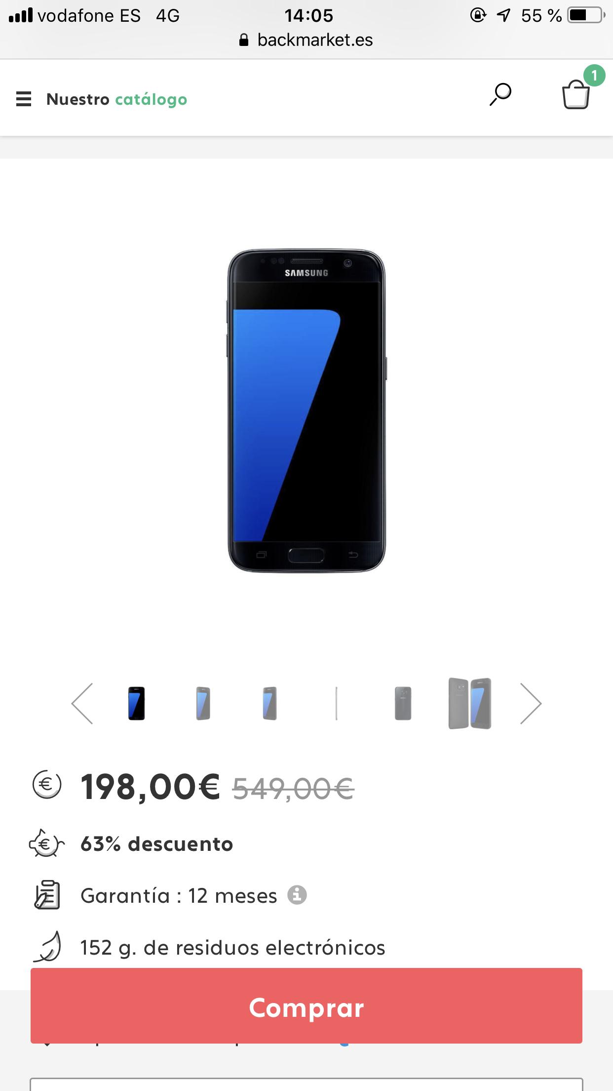 Galaxy S7 32GB - Negro Libre