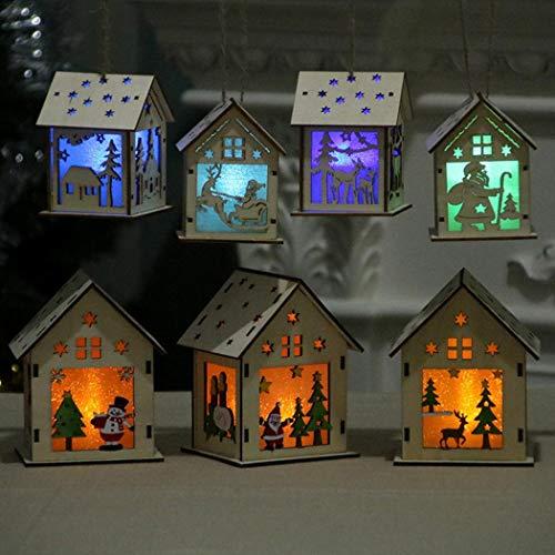 Mini Casa de LED Colgante para Fiesta Navidad