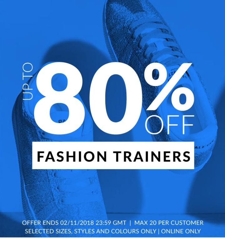 80% de descuento en zapatillas de vestir.