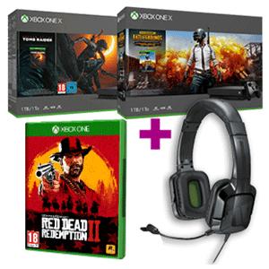 Xbox One X 1TB a elegir + Red Dead Redemption II + Tritton Kama