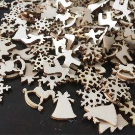 100 adornos navideños de madera para decoración o manualidades