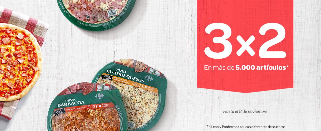 Carrefour: 3x2 en más de 5.000 artículos y 2x1 en más de 1.000 productos