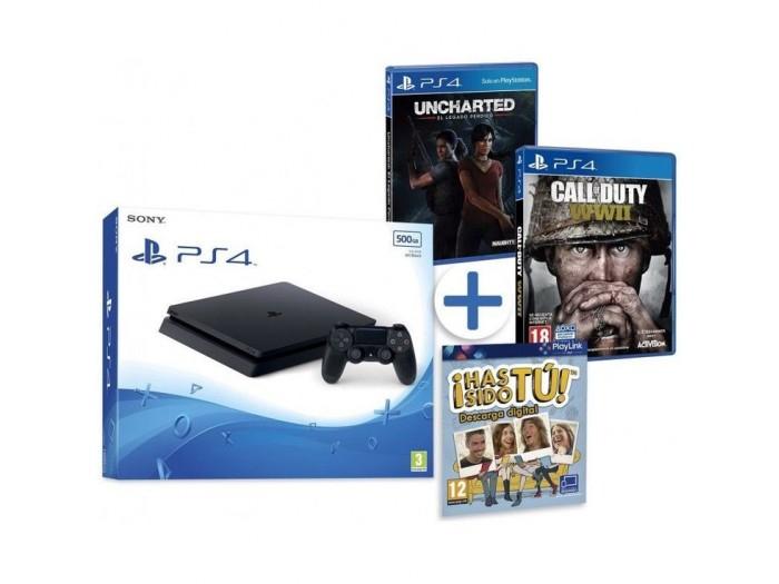 PS4 Slim con 3 juegos solo 269€