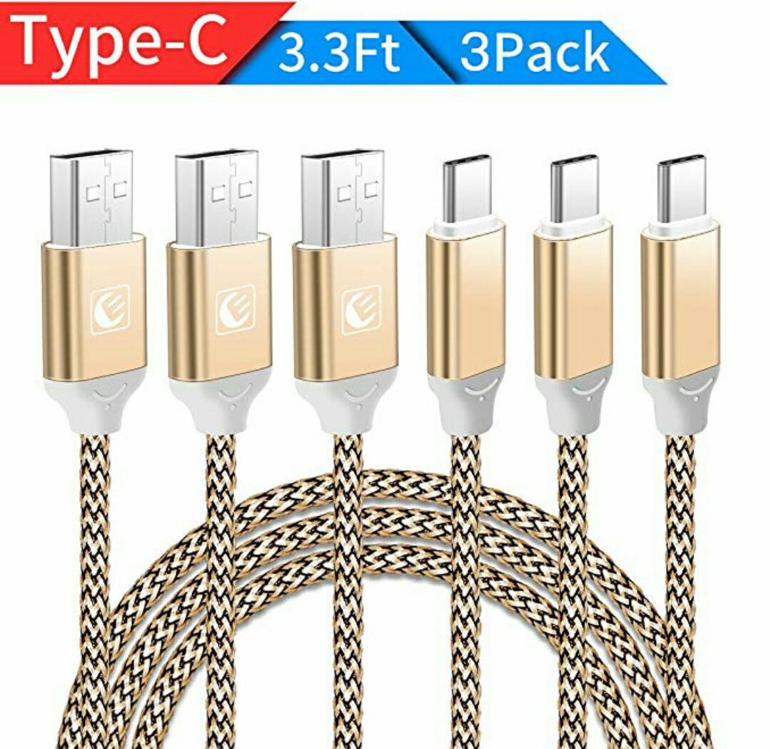 Cable Tipo C USB 3.0 Cable Trenzado de Nylon