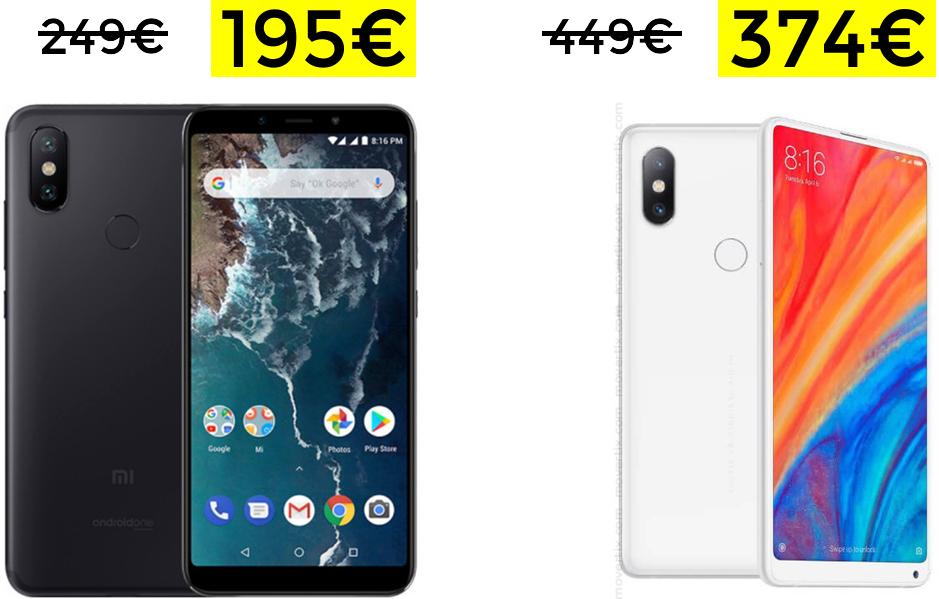 Buenos precios Xiaomi desde Amazon (Ej: Mi MIX 2s 374€)