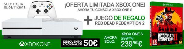 Xbox OneS 1TB + 1 juego a escoger o 2 mandos Wireless + Red Dead Redemption 2 + Assassins Creed Unity