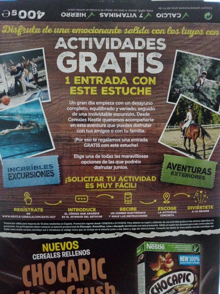 Actividades gratis comprando cereales Lion, Chocapic, Estrellitas o Nesquick con la promoción
