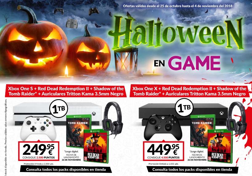 Promoción Halloween en Game: Packs de Xbox One S y X a buen precio