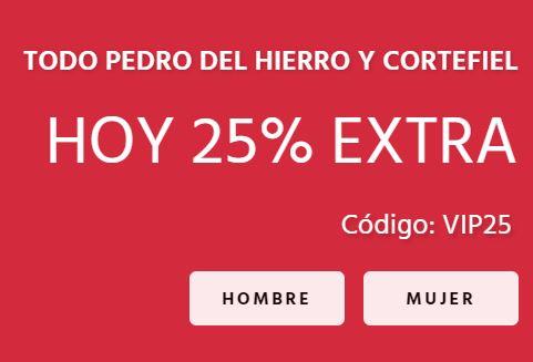FIFTY  Envío Gratis + 25% EXTRA Pedro del Hierro y Cortefiel
