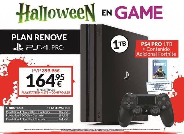Plan Renove PS4 Pro + Contenido Adicional Fortnite