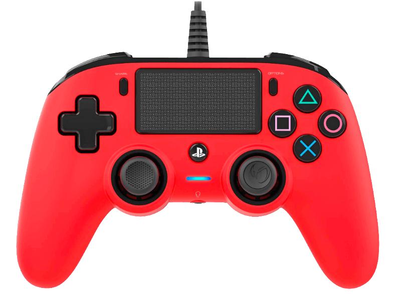 Mando - Nacon - PS4 Controller, con cable, Rojo