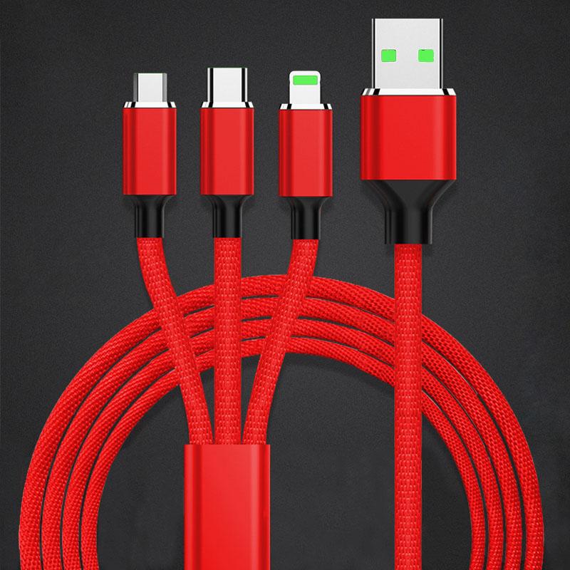 Cable 3 en 1 con 1.2metros