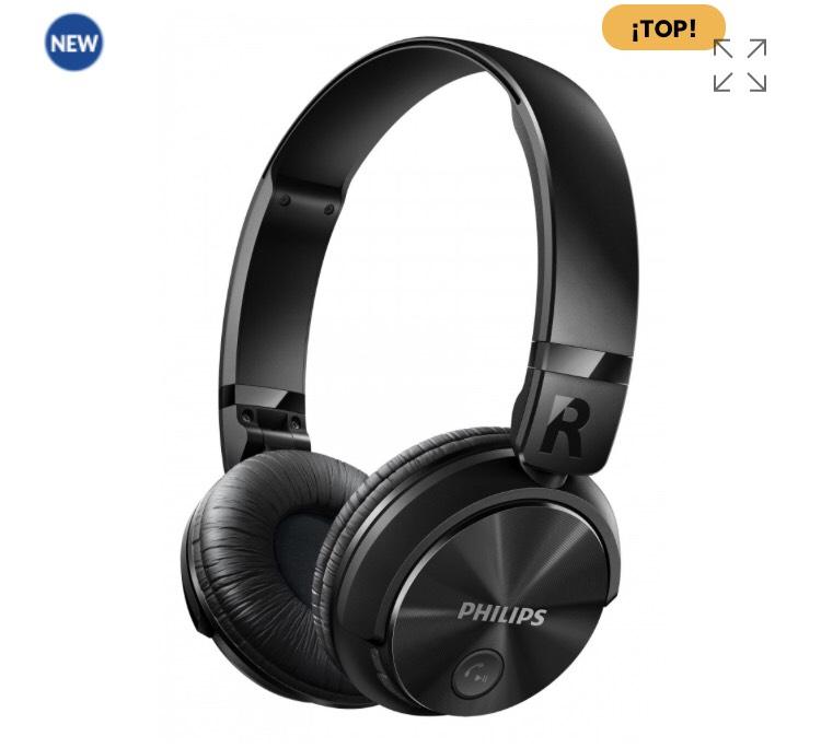 Auriculares Bluetooth Inalámbricos Con Sonido Potente Philips SHB3060BK