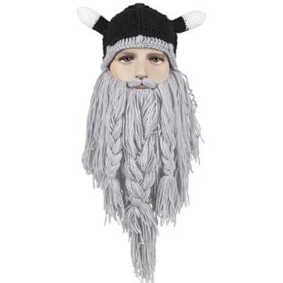 Gorro vikingo con barba