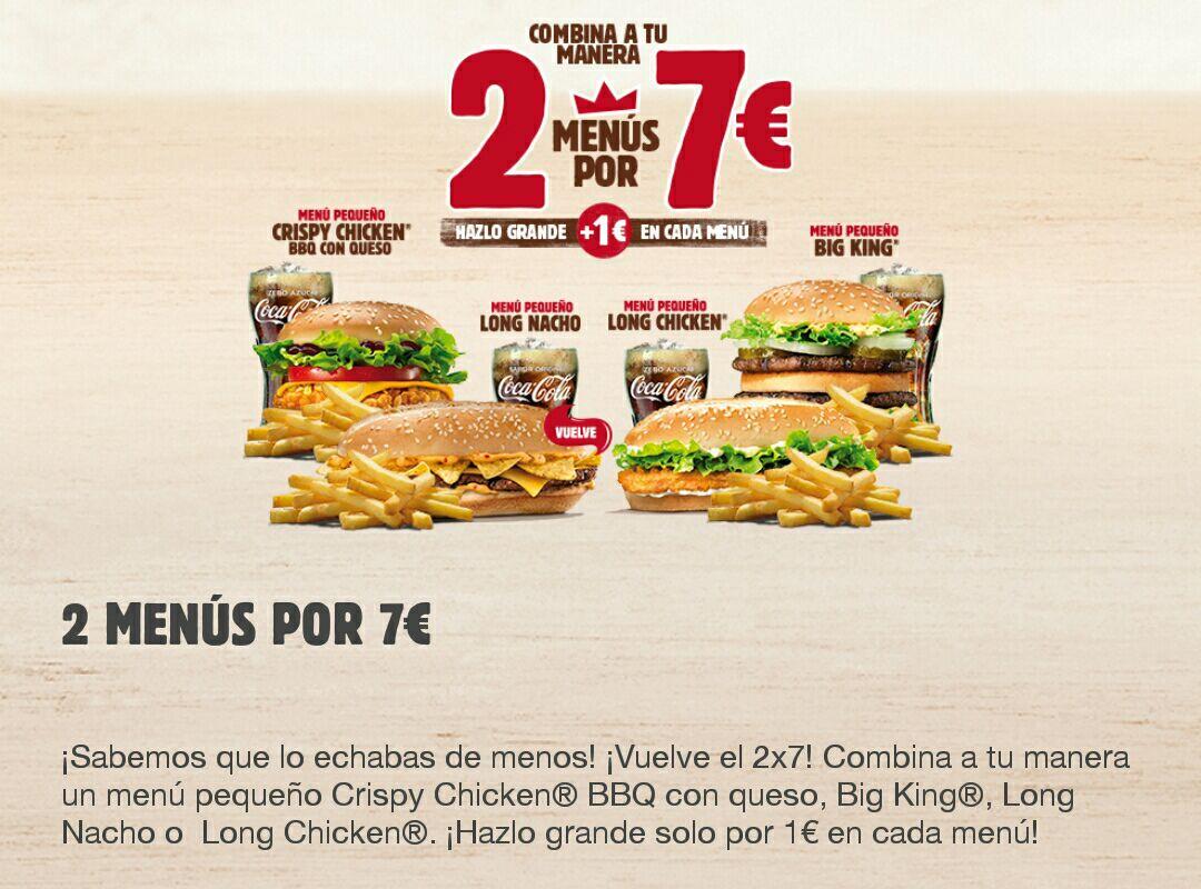 2 menús por 7€ + Truco