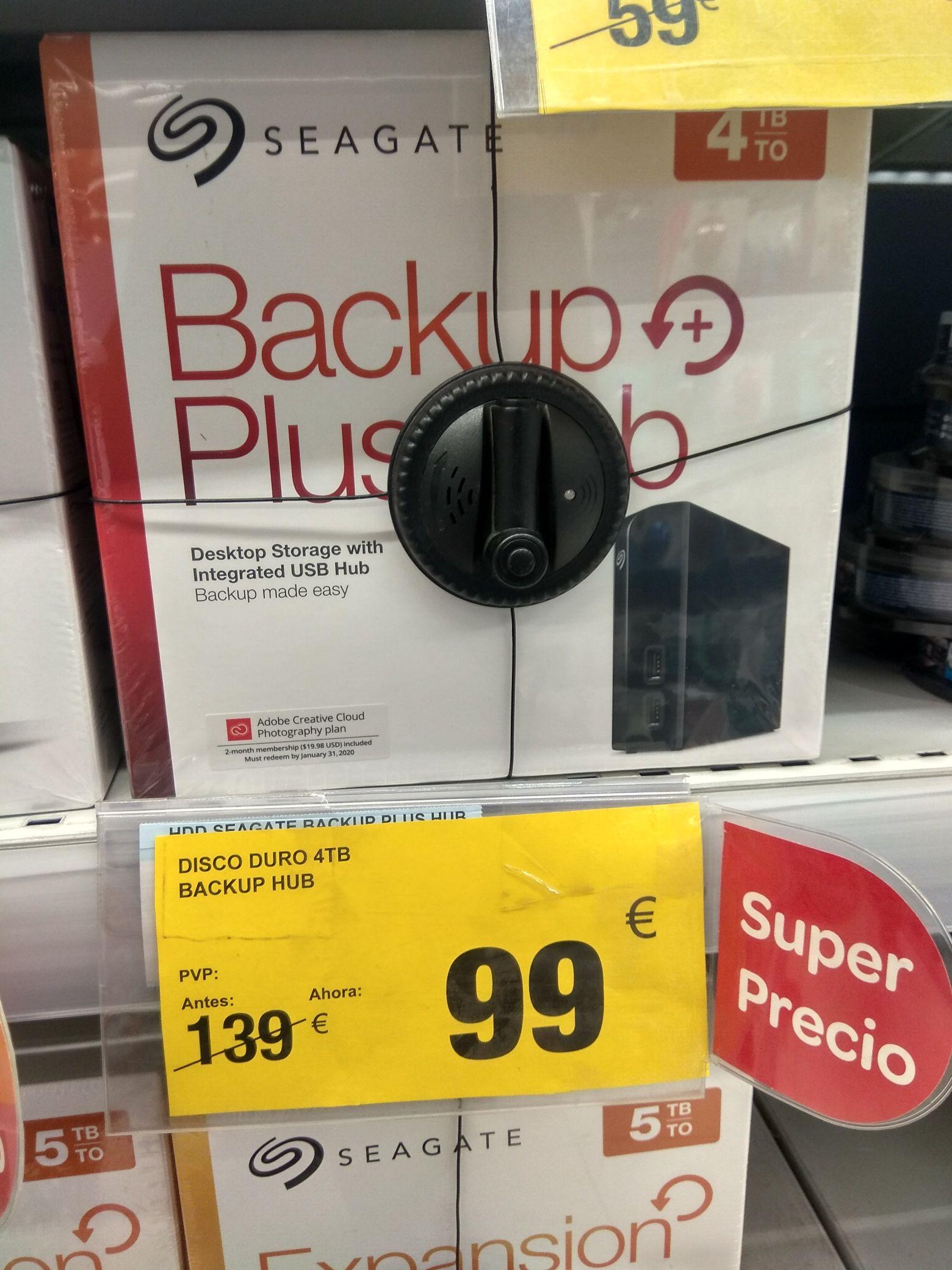 Disco Duro Externo Seagate Backup Plus Hub 4TB