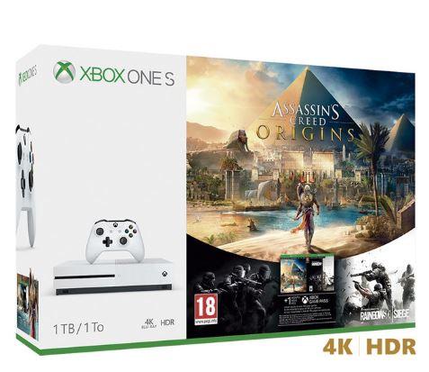 Xbox one S 1TB con el Assassins Creed Origin y el Rainbow Six + 1 mes Game Pass