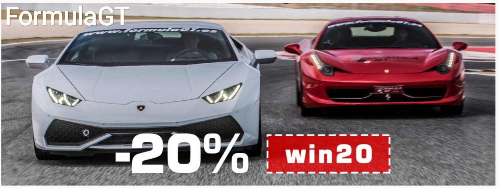 -20%entodas las experiencias de conducción