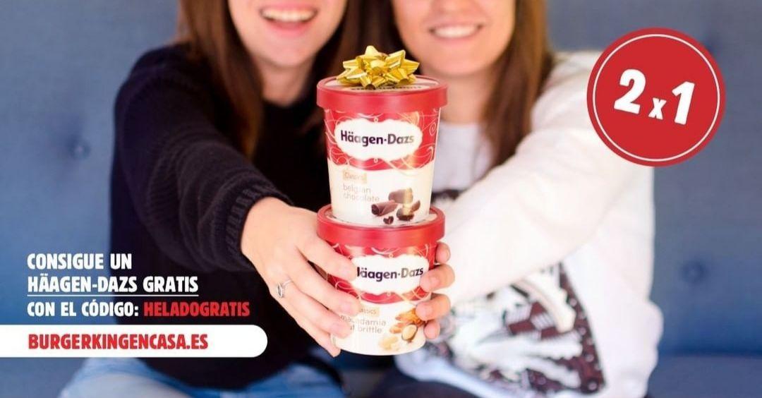 2x1 en helados Häagen-dazs de Burger King