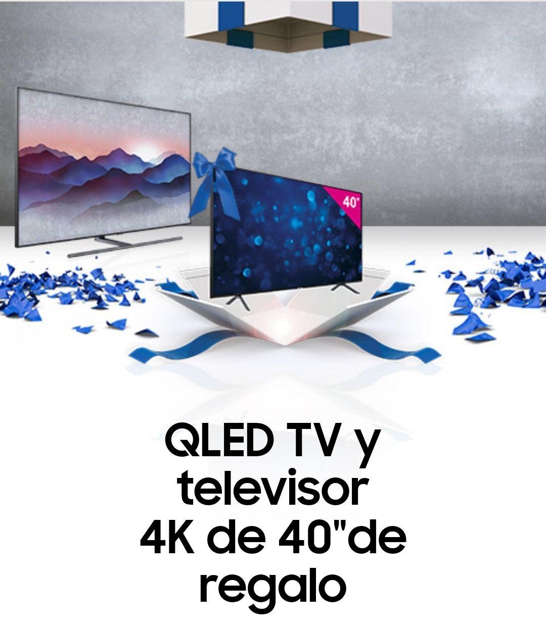 """Samsung QLED TV y televisor 4K de 40""""de regalo"""