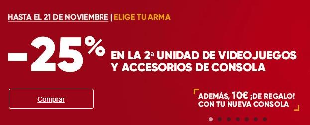 25% de descuento en la segunda unidad