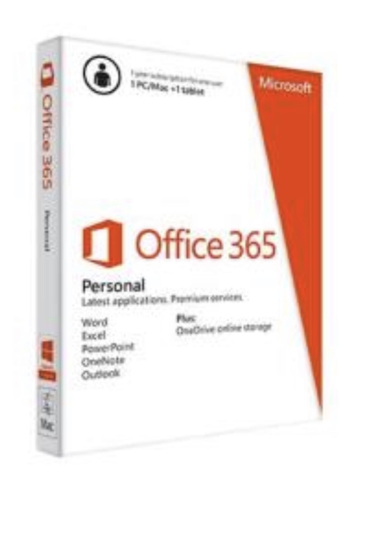 Office 365 Personal, 1 año (NO CUENTA)