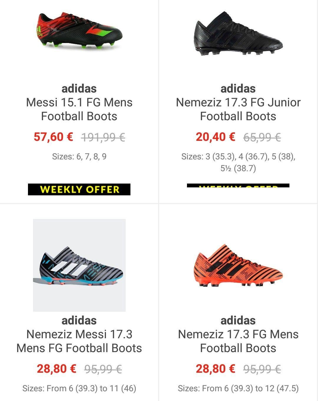 -80% Descuento en botas de fútbol SportsDirect