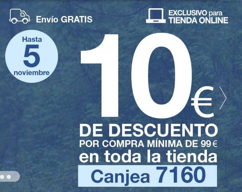 FORUM: Envío gratis y 10€ descuento por compras superiores a 99€