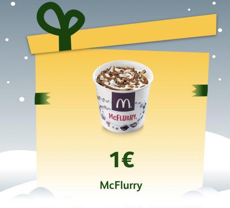 Mcflurry por 1€ Mc Donalds