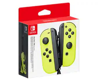 Par de mandos joy-con amarillo neón para Nintendo Switch