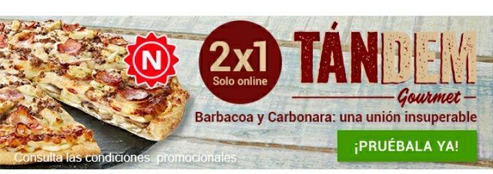 2x1 en la nueva Tándem Gourmet de Telepizza