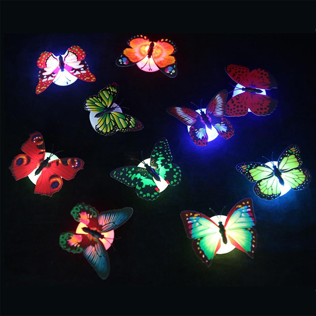 Mariposas de pared 3D con luz intermitente led