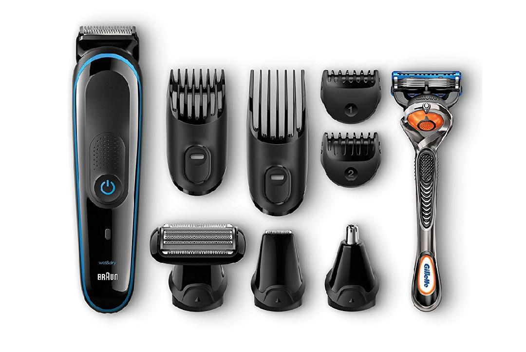 Braun MGK 3080 - Set de afeitado multifunción corporal y facial con recortadora, 9 en 1