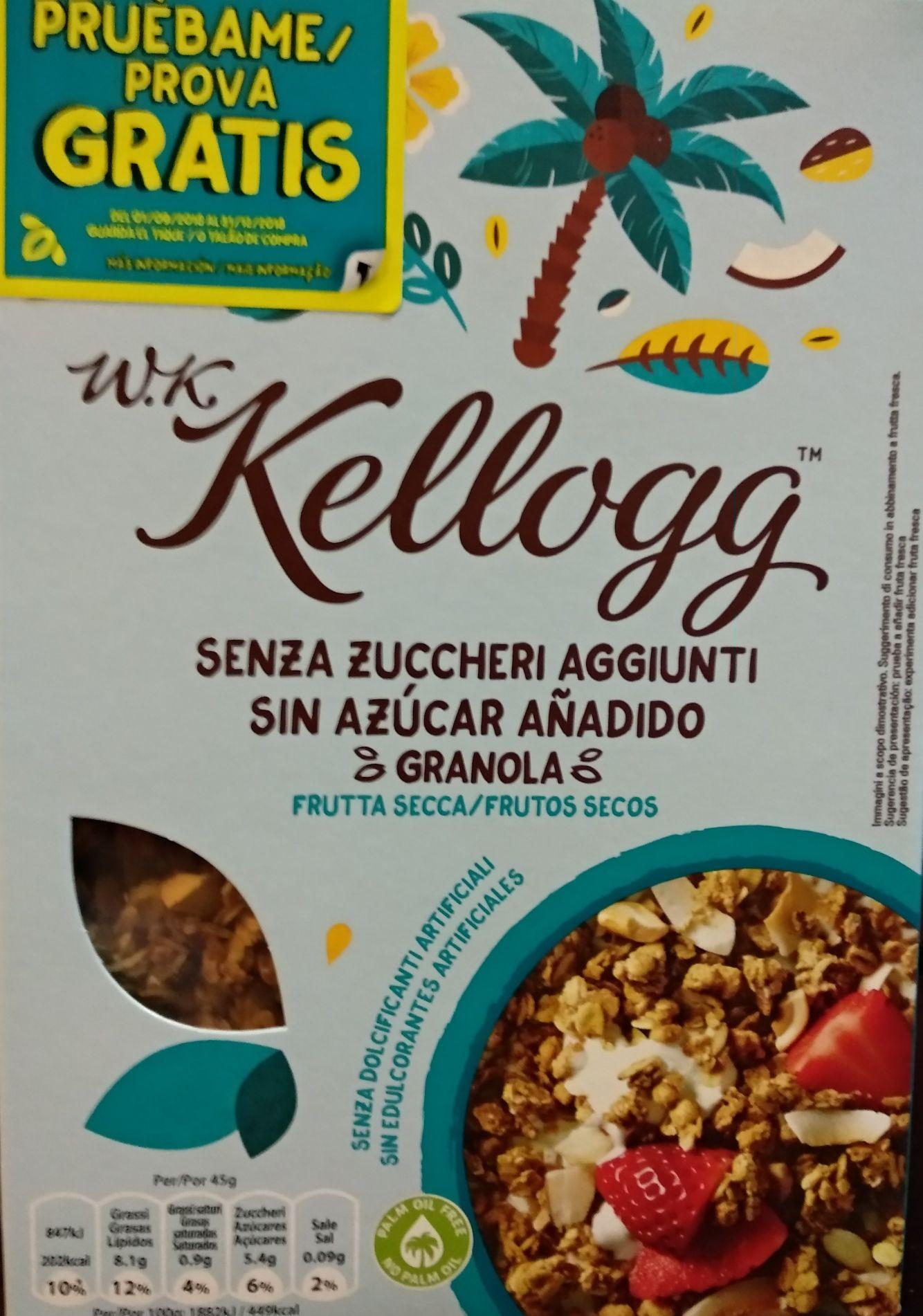 Cereales WK Kellogg Granola GRATIS REEMBOLSO